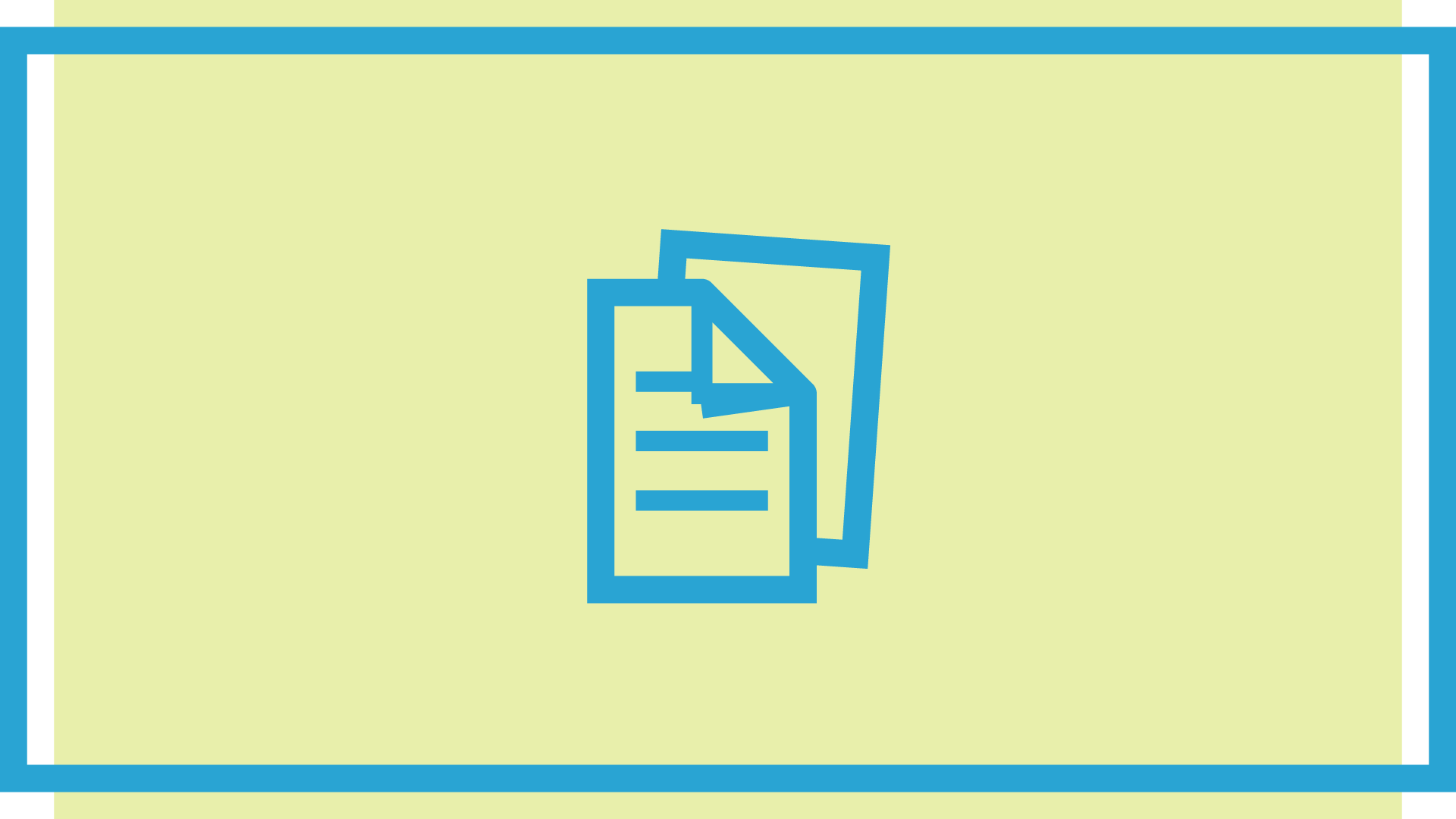 Assignment papers in blue on a pale green/yellow background.